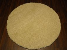 SHAGGY NEW 120X120CM CIRCLE RUGS WOVEN BACK CARVED CREAM/OFF WHITE NEW THICK
